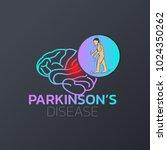 parkinson's disease icon design ... | Shutterstock .eps vector #1024350262