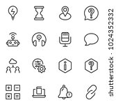 technical support flat icon set.... | Shutterstock .eps vector #1024352332