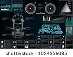futuristic user interface. car... | Shutterstock .eps vector #1024356085