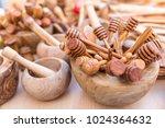 wooden bowls and utensils | Shutterstock . vector #1024364632