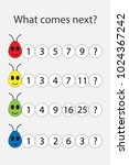 what comes next with numbers... | Shutterstock .eps vector #1024367242