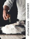 dessert mix wheat flour with... | Shutterstock . vector #1024368085