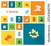 saint patricks day icon set.... | Shutterstock .eps vector #1024368256