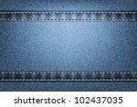vector jeans texture | Shutterstock .eps vector #102437035