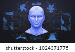 concept of face scanning.... | Shutterstock .eps vector #1024371775