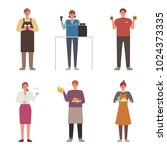 part time job that young people ... | Shutterstock .eps vector #1024373335
