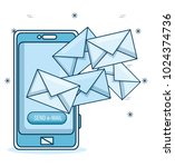 email marketing and promotion...   Shutterstock .eps vector #1024374736