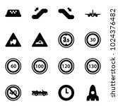 solid vector icon set   taxi...   Shutterstock .eps vector #1024376482