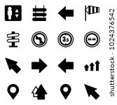 solid vector icon set  ... | Shutterstock .eps vector #1024376542