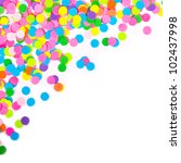 confetti on white background | Shutterstock . vector #102437998