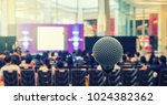 microphone over the abstract... | Shutterstock . vector #1024382362