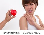 disappointed woman rejecting... | Shutterstock . vector #1024387072