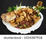 deep fried whole fish  red...