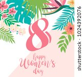 international woman's day... | Shutterstock .eps vector #1024392076