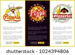 pizzeria collection of web... | Shutterstock .eps vector #1024394806