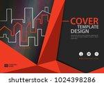 orange cover template for... | Shutterstock .eps vector #1024398286