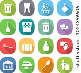 flat vector icon set   bin... | Shutterstock .eps vector #1024399606