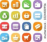 flat vector icon set   shop... | Shutterstock .eps vector #1024400956