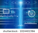 abstract background technology... | Shutterstock .eps vector #1024401586