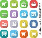 flat vector icon set   cart... | Shutterstock .eps vector #1024401952