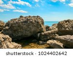 beautiful summer sea landscape...   Shutterstock . vector #1024402642