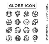 simple set globe icon. editable ... | Shutterstock .eps vector #1024404052