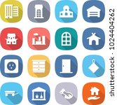 flat vector icon set   houses... | Shutterstock .eps vector #1024404262