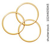three linking metal rings for... | Shutterstock .eps vector #1024405045
