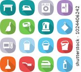 flat vector icon set   table... | Shutterstock .eps vector #1024406242