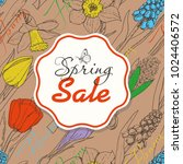 spring sale background with... | Shutterstock .eps vector #1024406572