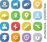 flat vector icon set   pointer... | Shutterstock .eps vector #1024407466