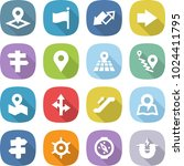 flat vector icon set   pointer... | Shutterstock .eps vector #1024411795