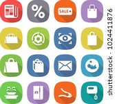 flat vector icon set  ... | Shutterstock .eps vector #1024411876