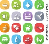 flat vector icon set   washing... | Shutterstock .eps vector #1024411966