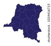 blue map of democratic republic ... | Shutterstock .eps vector #1024416715