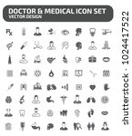 doctor and medical icon set | Shutterstock .eps vector #1024417522
