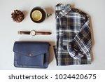 summer or autumn woman casual... | Shutterstock . vector #1024420675