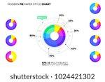 modern paper style pie chart....   Shutterstock .eps vector #1024421302