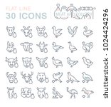 set of vector line icons  sign...   Shutterstock .eps vector #1024424296