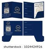 hotel key card holder folder...   Shutterstock .eps vector #1024424926