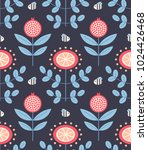 vector seamless folk pattern... | Shutterstock .eps vector #1024426468