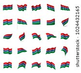 gambia flag  vector illustration | Shutterstock .eps vector #1024432165