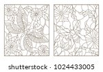set contour illustrations of... | Shutterstock .eps vector #1024433005
