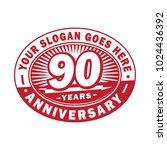 90 years anniversary....   Shutterstock .eps vector #1024436392