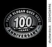 100 years anniversary.... | Shutterstock .eps vector #1024436446