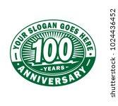 100 years anniversary.... | Shutterstock .eps vector #1024436452