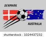 flags of denmark and australia  ...   Shutterstock .eps vector #1024437232