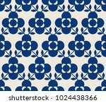 seamless retro pattern with... | Shutterstock .eps vector #1024438366