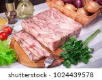 meat and sausages set of fresh... | Shutterstock . vector #1024439578