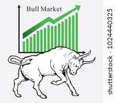 bull market symbols of stock...   Shutterstock .eps vector #1024440325